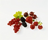 Redcurrants and other assorted soft fruits