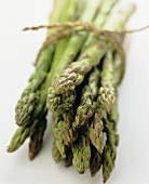 A Tied Bunch of Green Asparagus