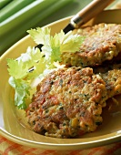 Vegetable burgers on plate