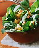 Corn salad with potato dressing
