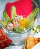 Caribbean shrimp salad with coriander and carambola