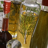Herb vinegars and oils and raspberry vinegar