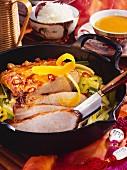Shanghai roast (roast pork with rice wine and leeks)