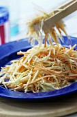 Coleslaw (American white cabbage salad with carrots)