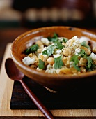 Chick pea and cauliflower salad with coriander