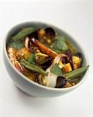 Meeresfrüchte-Safran-Gumbo (aus der Cajun-Küche, Louisiana)