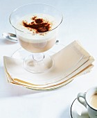 Cappuccino mousse in dessert glass