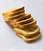 Toasted slices of brioche