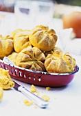 Several pumpkin rolls