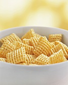 Crispy cereal in a bowl