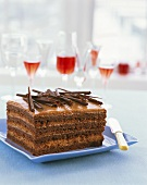 Chocolate mousse gateau with rum
