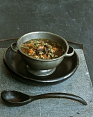 Mushroom soup with barley