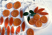 Candied orange slices and orange peel