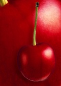 Sweet cherry, background; magnified cherry