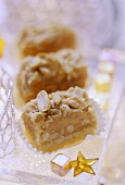 Peanut and toffee squares