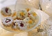 Spitzbuben (jam biscuits) and Heidesand biscuits (sandies)