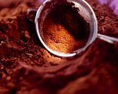Cocoa powder with sieve