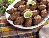 Arabic lamb and bulgur balls (Kibbeh)