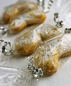 Individually wrapped almond crescents