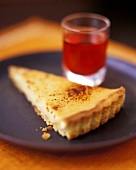 A piece of orange tart