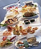Large summer buffet