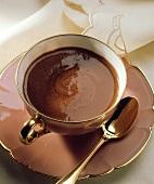 Heiße Schokolade auf französische Art