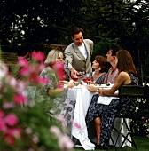 People Having Dinner Outside