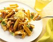 Penne alla svizzera (Penne with chicken and Gruyere)