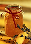 Peach jam with lavender and vanilla