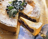Blueberry quark cake