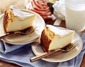 New York cheesecake with crème fraiche