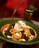 Dried fruit salad with almonds and spices