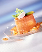 Chartreuse of salmon trout with caviare