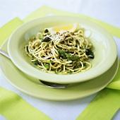 Spaghetti agli asparagi (Spaghetti with green asparagus)