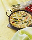 Asparagus and potato omelette