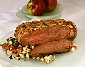 Roast beef with apple salad