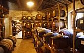 Balsamic barrels in cellar (Panzano, Tuscany)