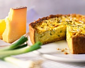 Wholemeal leek quiche