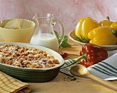 Penne with mince sauce