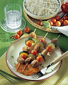 Mince and vegetable kebabs