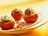 Pomodori alla siracusana (Baked tomatoes with pasta stuffing)