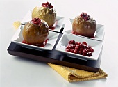 Baked apples with cranberries