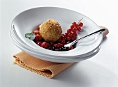 Quark dumplings with berry ragout