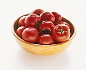 Tomatoes in light-brown bowl