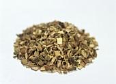 A heap of willow bark (medicinal plant)