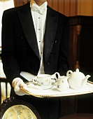Waiter with Tea Service