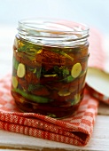 Dried tomatoes in herb oil