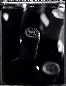 A few bottles of Chateau Mouton Rothschild (b/w photo)