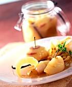 Vanilla apples in Cidre