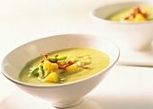 Potato and avocado soup